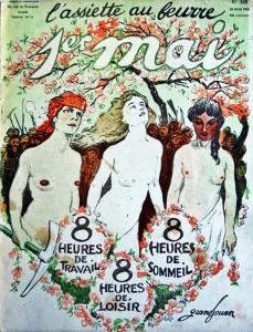 """Dessin de Grandjouan, """"1er mai"""", L'Assiette au beurre, 28/4/1906."""